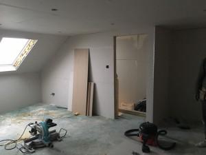 Cheshunt Loft Conversion - Plasterboard